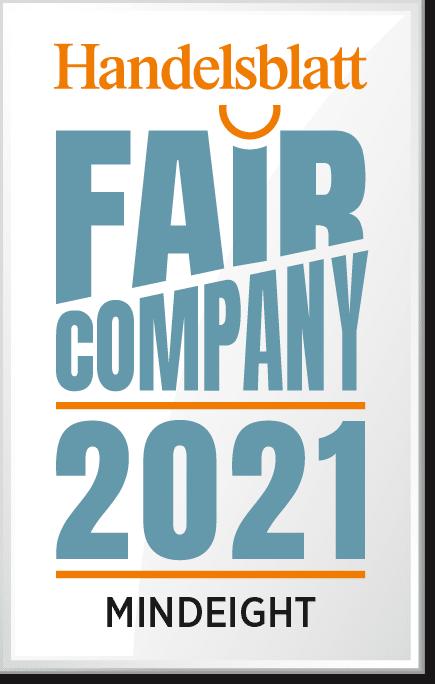 Handelsblatt FairCompany 2021 MINDEIGHT Logo